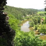 Sázava ze zříceniny hradu Zbořený Kostelec