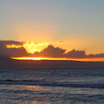 Maui sunset from Kaanapali (the island in the foreground is Lanai - Larry Ellison owns that island)