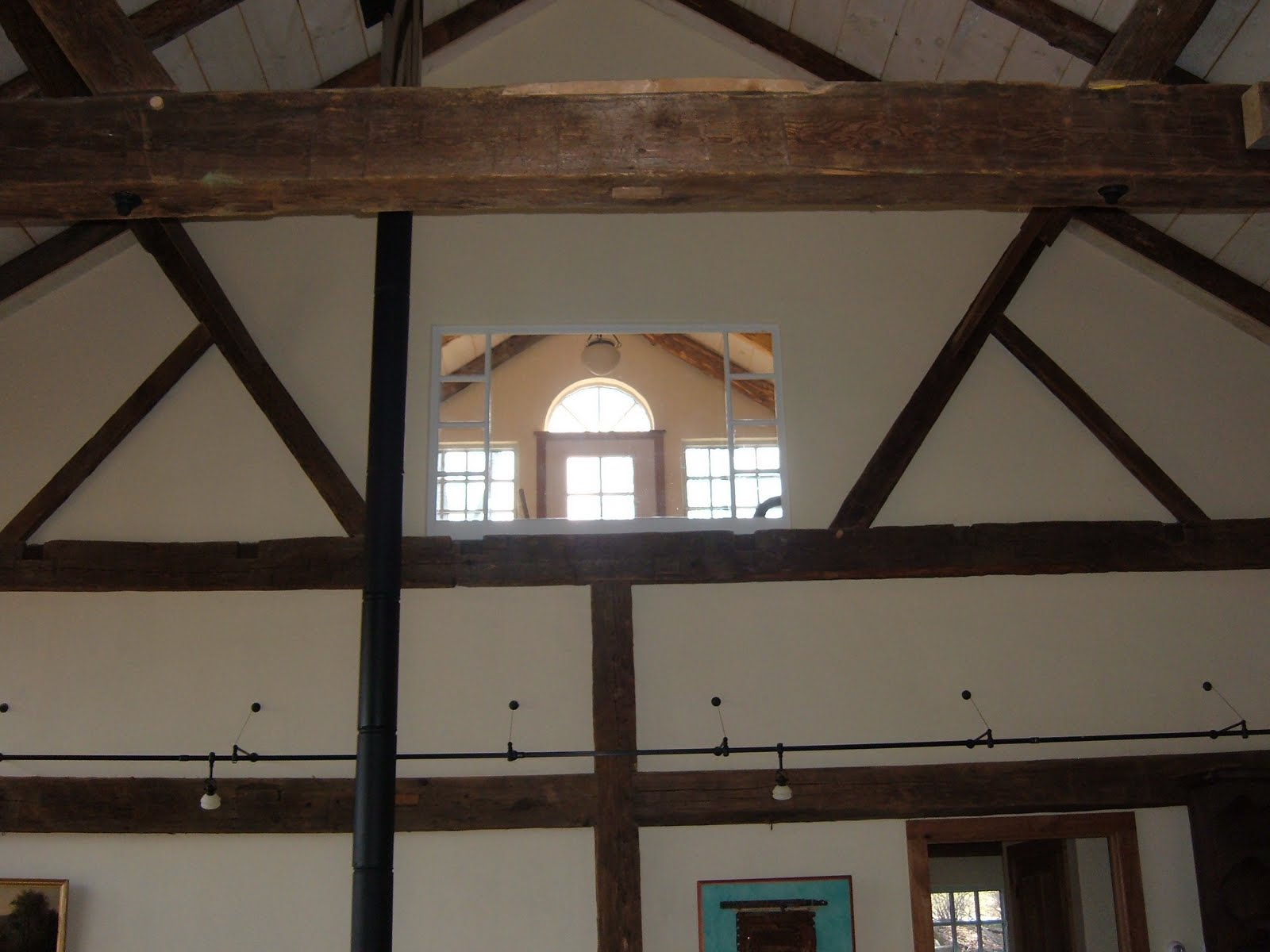 View from the main room to the sudio above.