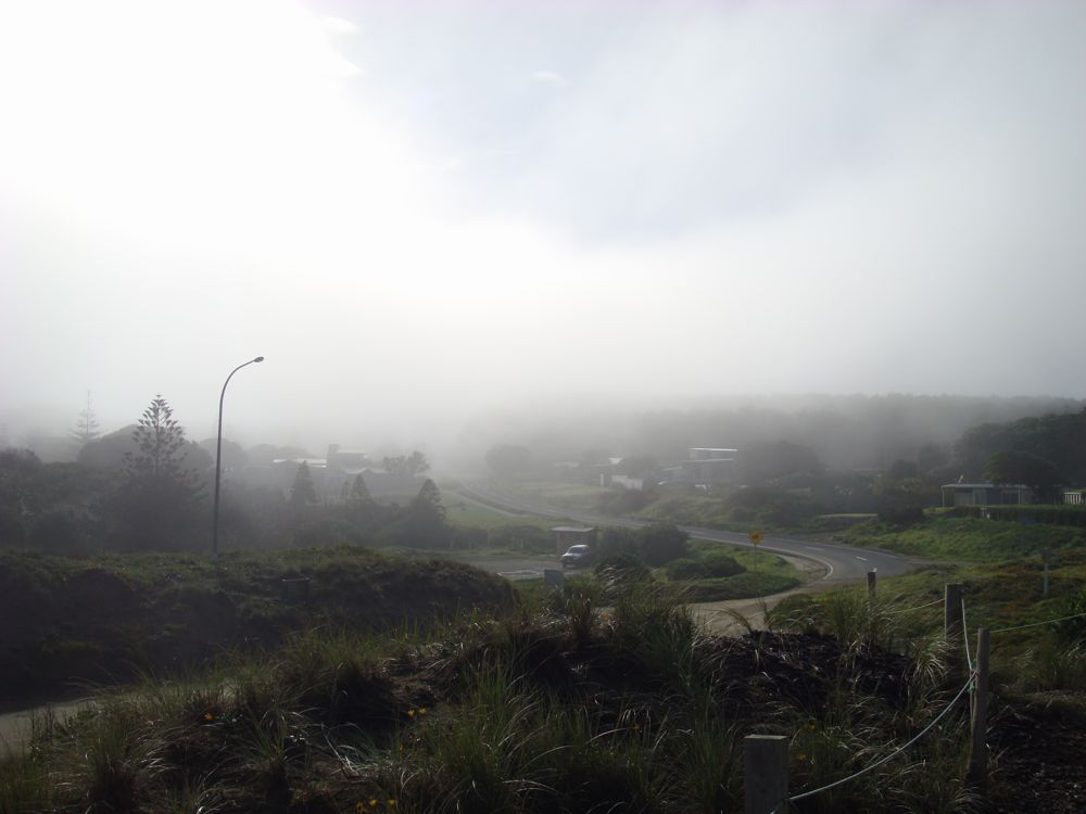 Foggy all the way up to the cape
