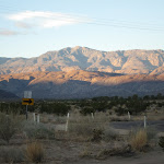 Looking back towards Toro Peak on our drive out.