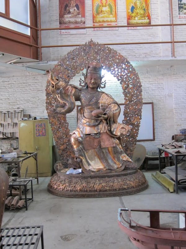 Padmasambhava statue for Lawudo nearly finished