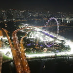Airview on the pit straight