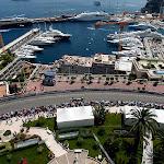 Monaco harbuor overview with Bruno Senna, Williams FW34