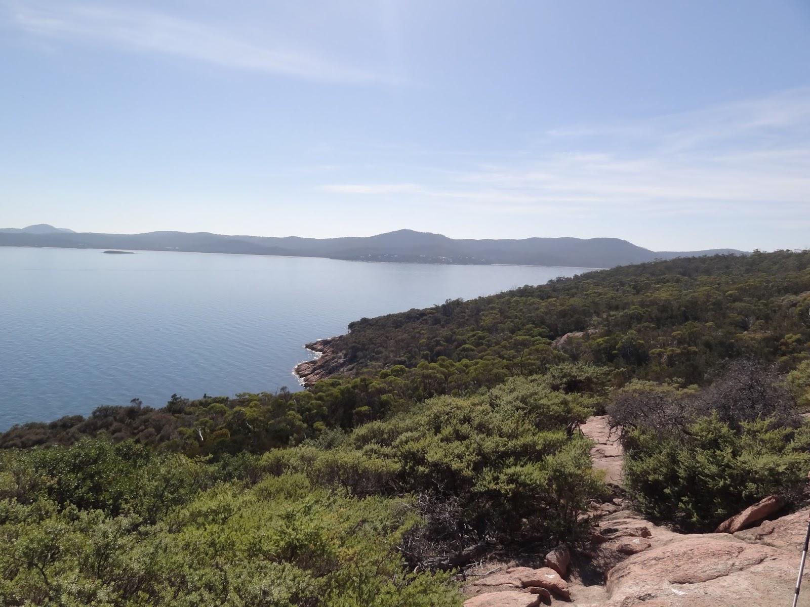 Looking north towards Coles Bay