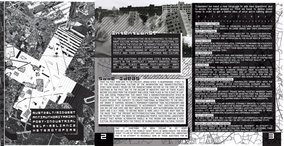 Zine Cover and frist pages foldout 8.5 x 11