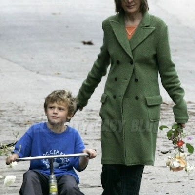 10-13-07 Pacific Palisades, CAExclusive: Quirky actress Diane Keaton enjoys yet another barefoot excursion but this time with her adorable adopted son Duke Keaton and the family dog.  Keaton picked roses from her neighbors gardens (wonder how they feel about that!) and Duke showed off his Trike skilz...Exclusive Pix by Flynet ©2007818-307-4813  Nicolas323-833-7042  Nicolas323-974-6007  Jay310-466-8617  Scott