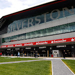 Pitlane and building Silverstone circuit