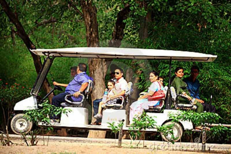 Battery operated car in Chandigarh zoo