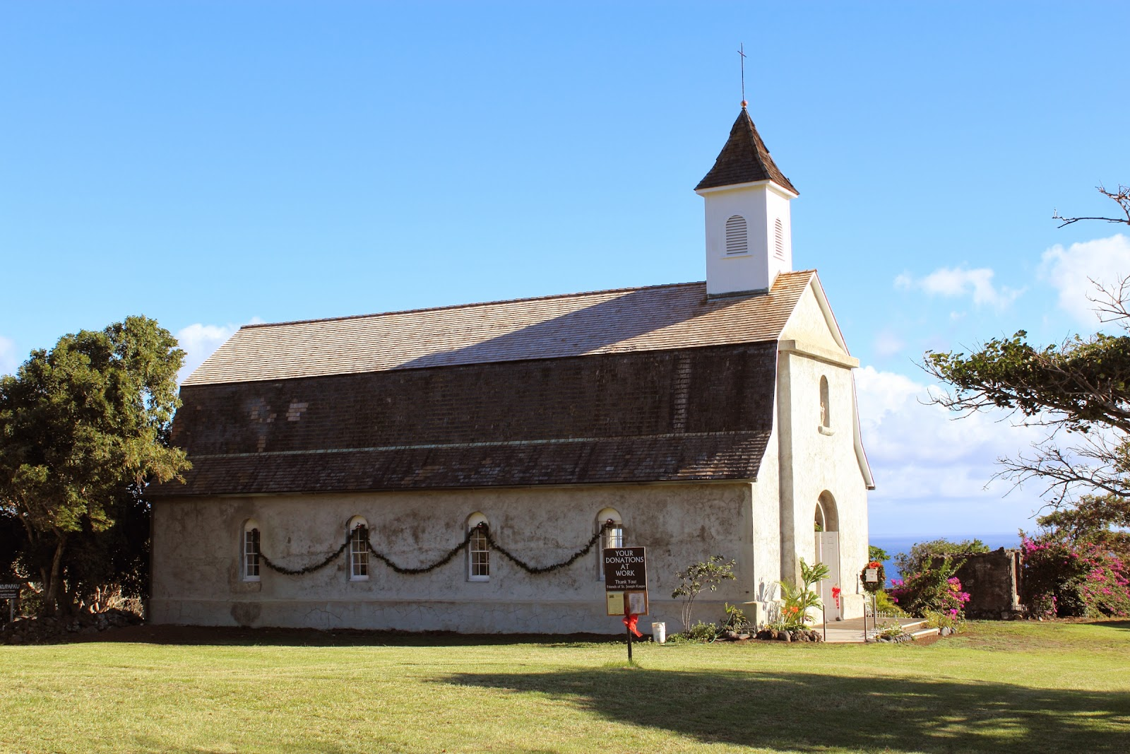 St Joseph's Church on the back side of Haleakala (the road less traveled due to the FUD from rental car companies)