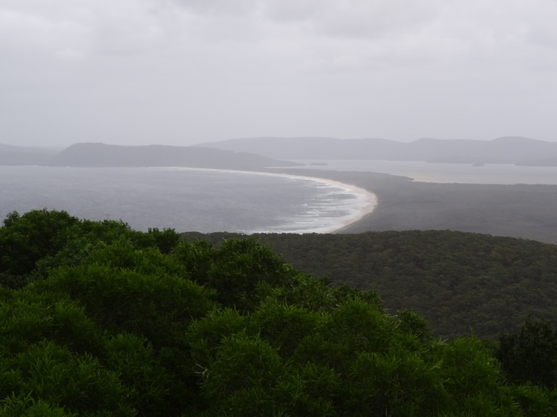 Seven Mile Beach from Cape Hawke Lookout