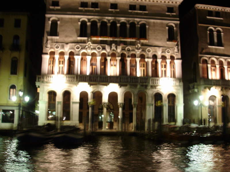 After dinner we came back into the city to see Venice by night