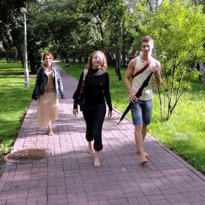 Босоногая прогулка по Новосибирску.