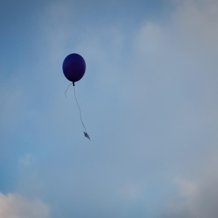 Vypouštění balónků s přáním...