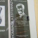 A PMG Hommage á Esterházy János kiállítás reklámanyaga