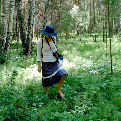 Целитель Зара на лесной тропе.