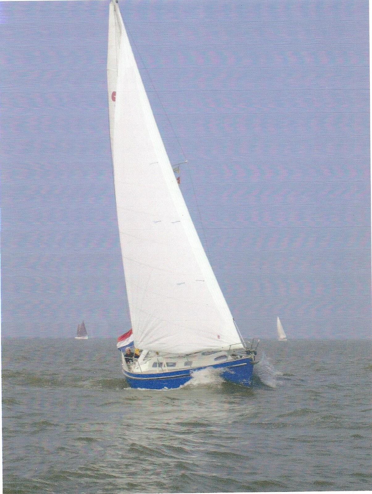Nicholson 35 Sophia op het IJsselmeer voor Monnickendam, vermoedelijk september 2009