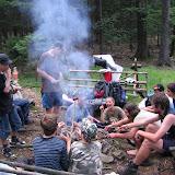 Večeře - buřty na ohni