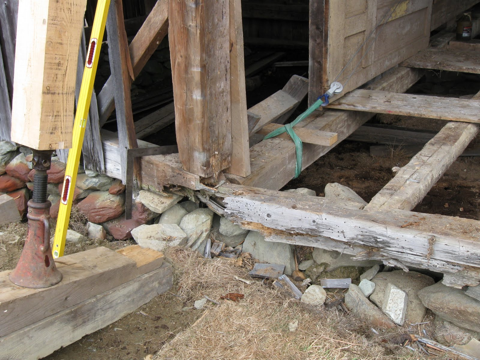 Insect and water damage destroyed most of the sill timbers.