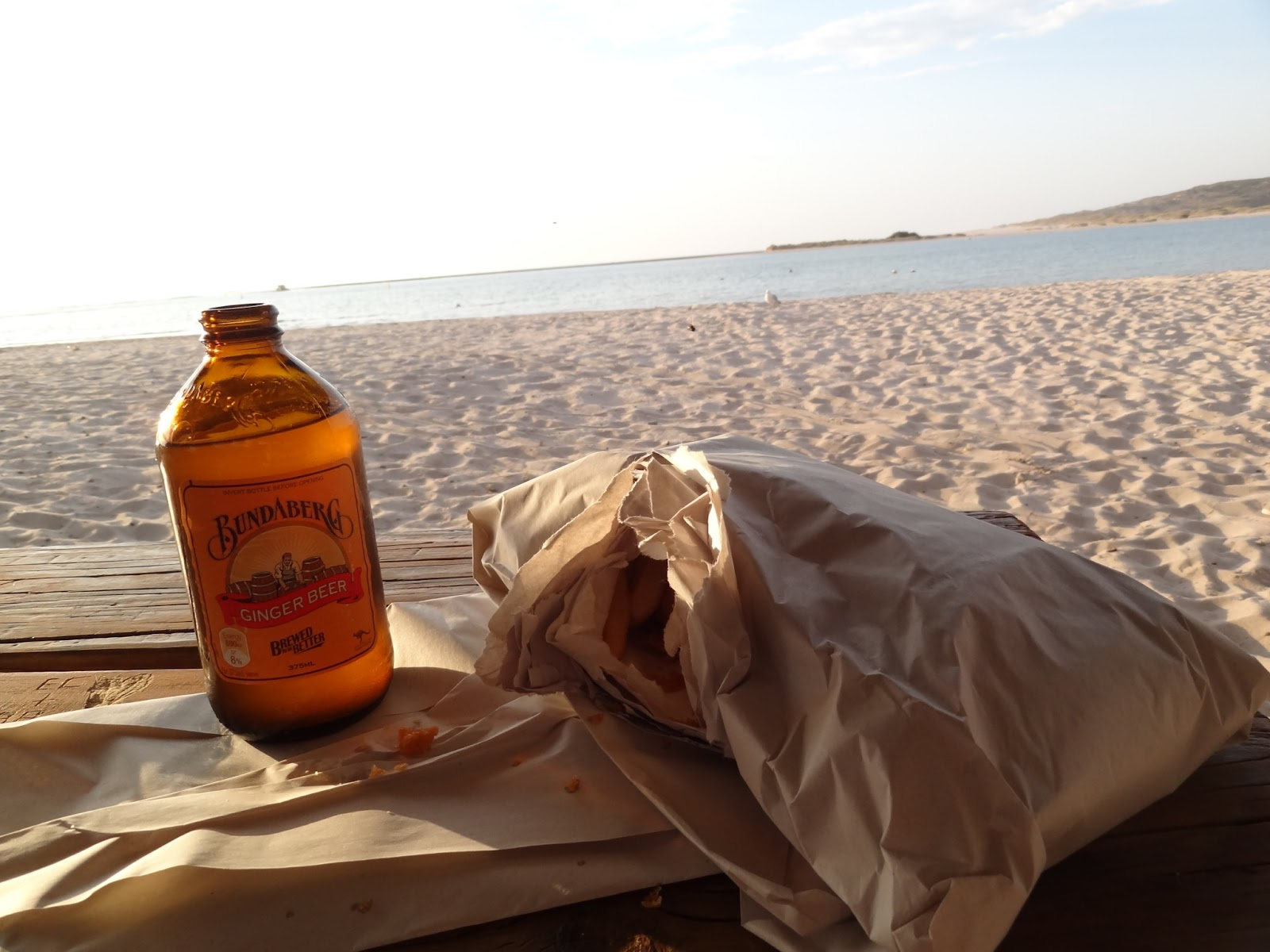 Fish and chips on the beach!