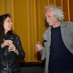 Muriel Jaquerod, la réalisatrice du documentaire ENGEL, accompagnée de son père Edmond Engel.