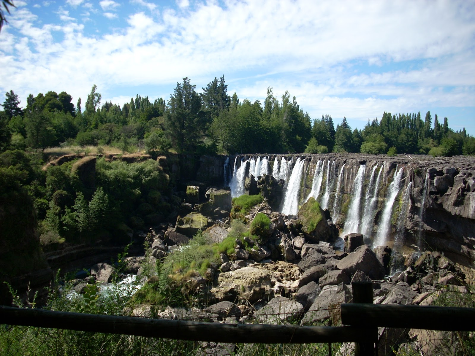 This was the view from my campsite. Unfortunately they don't turn the falls off at night, so it was a little noisy.