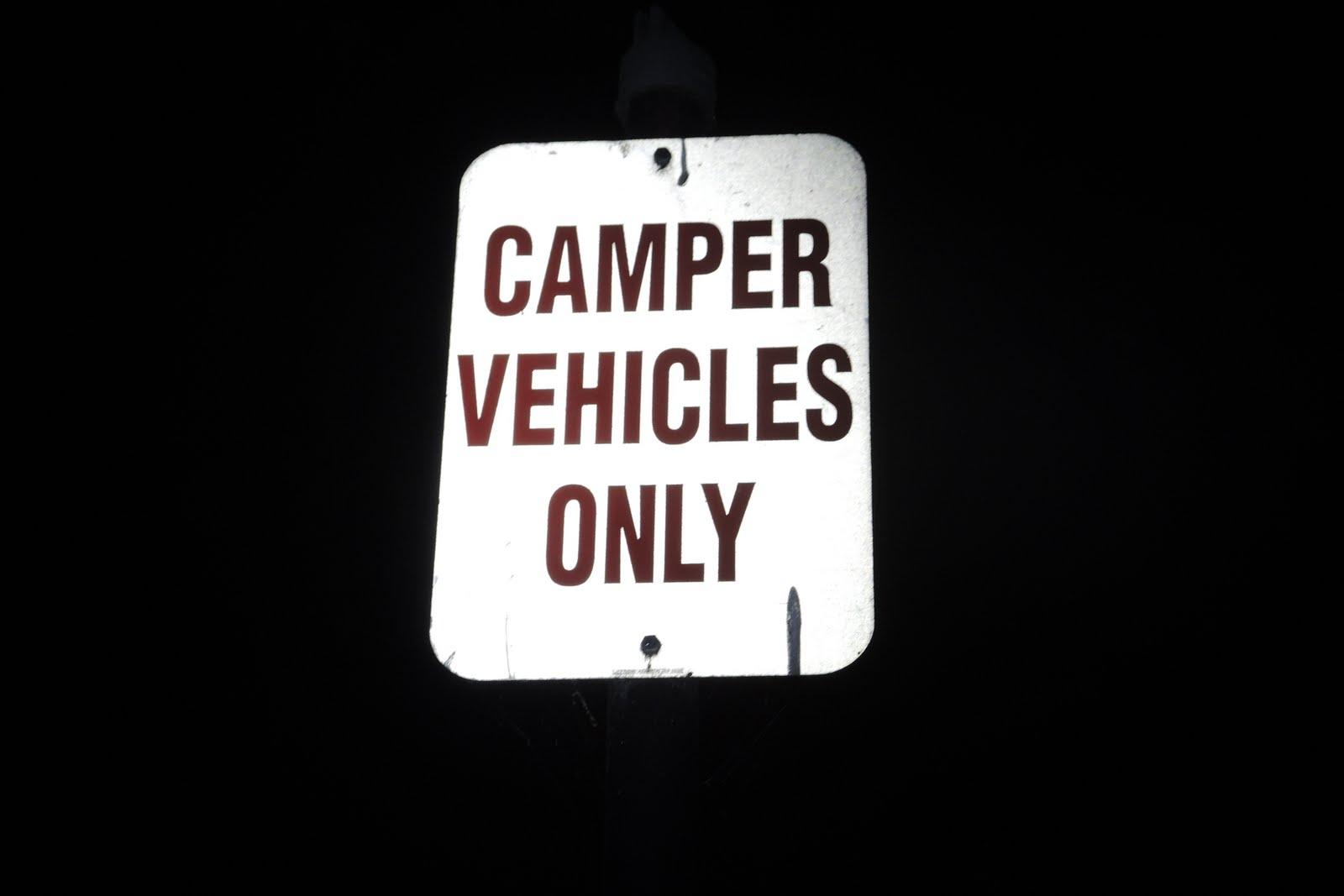 Je ne le savais pas, mais le parc permet de camper