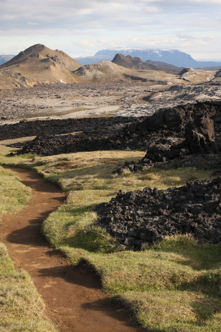 Hiking trail down the volcano