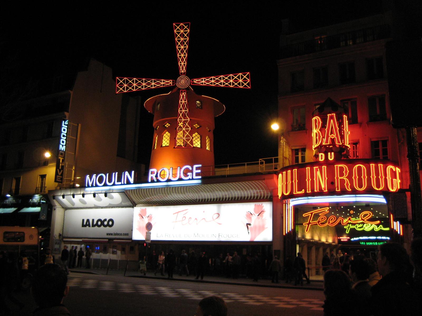 Moulin Rouge - http://en.wikipedia.org/wiki/Moulin_Rouge