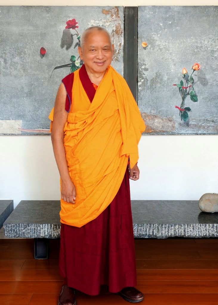 Lama Zopa Rinpoche in Taiwan, April 2014. Photo by Ven. Roger Kunsang.