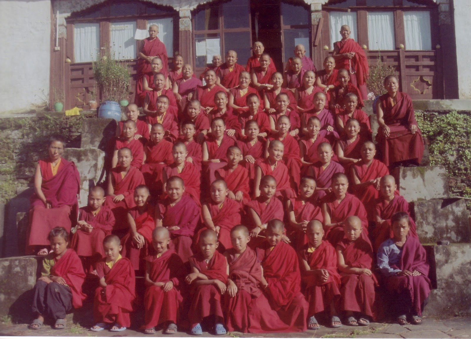 Bigu Nunnery - every year Rinpoche sponors them in 100 million mani retreats