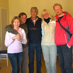 With Robert Peroni, a famous explorer of Greenland, at his guesthouse. After a few expeditions, crossing the whole Greenland multiple times on dog sledges and on foot, he fell in love into this frozen land, and stayed here