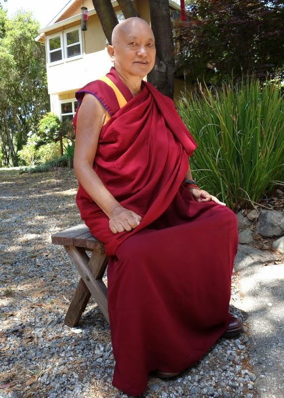 Lama Zopa Rinopche at Kachoe Dechen Ling, Aptos, California, June 2014. Photo by Ven. Roger Kunsang.