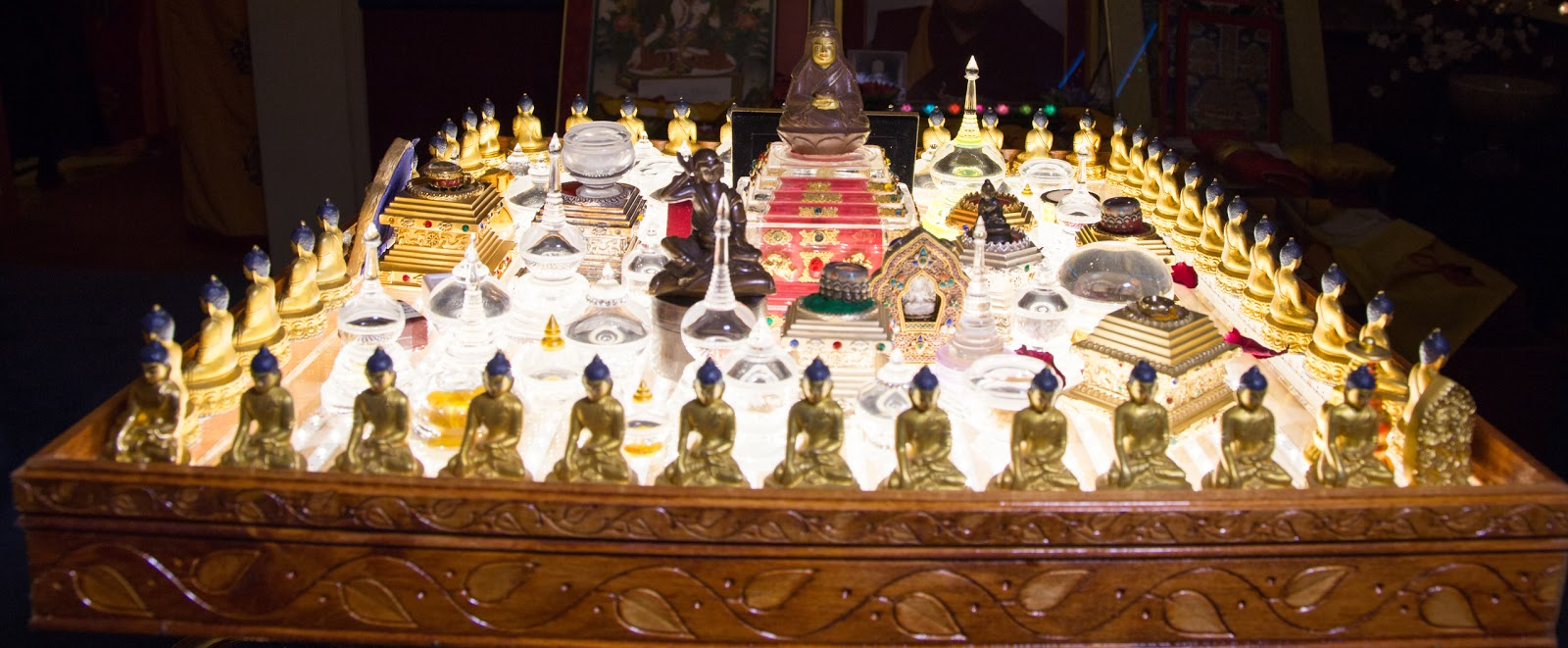 Relics Altar. Photo by Ven. Thubten Kunsang.