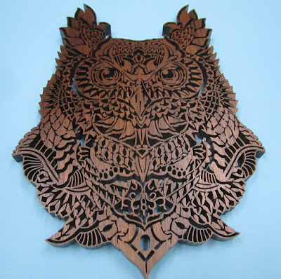HOOTIE Ornate Owl   by Charles Hand original by  Ben Kwok of BIOWORKZ