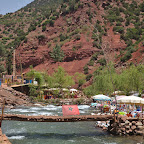 Ourika is full of places where you can eat Tajin by the river