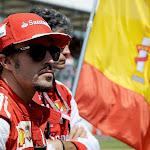 Fernando Alonso on the grid