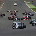 Start of the 2015 British F1 GP