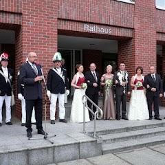 2008 Ausholen des Königpaares vom Rathaus