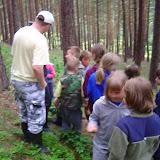 Během hry v lese