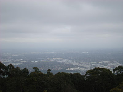 The view from the Dandenong Ranges of Melbourne :(
