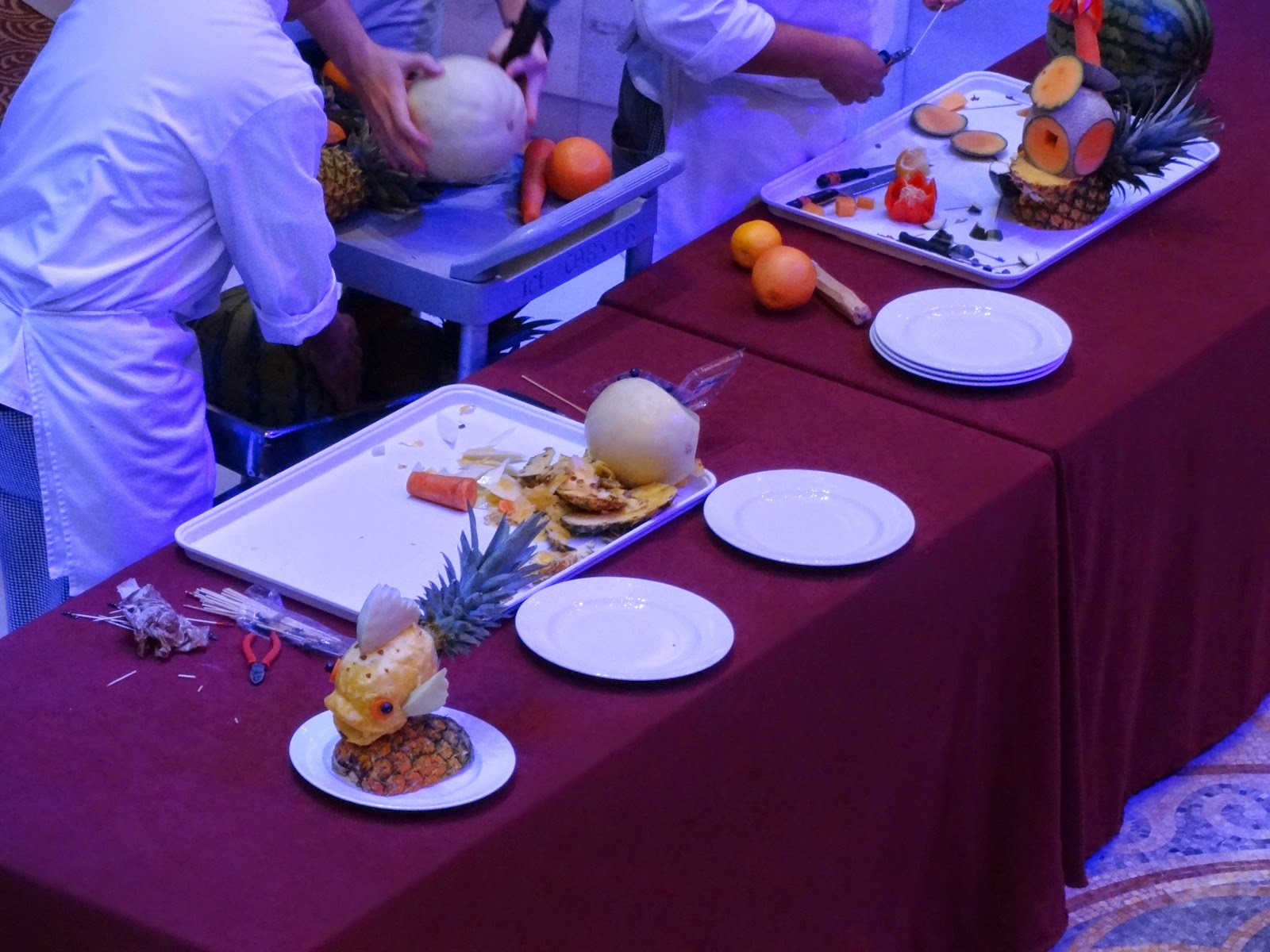 fruit carving demo