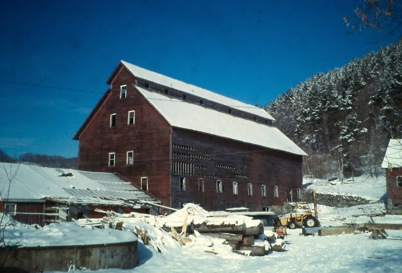 We restored the west barn frame over at the east barn.
