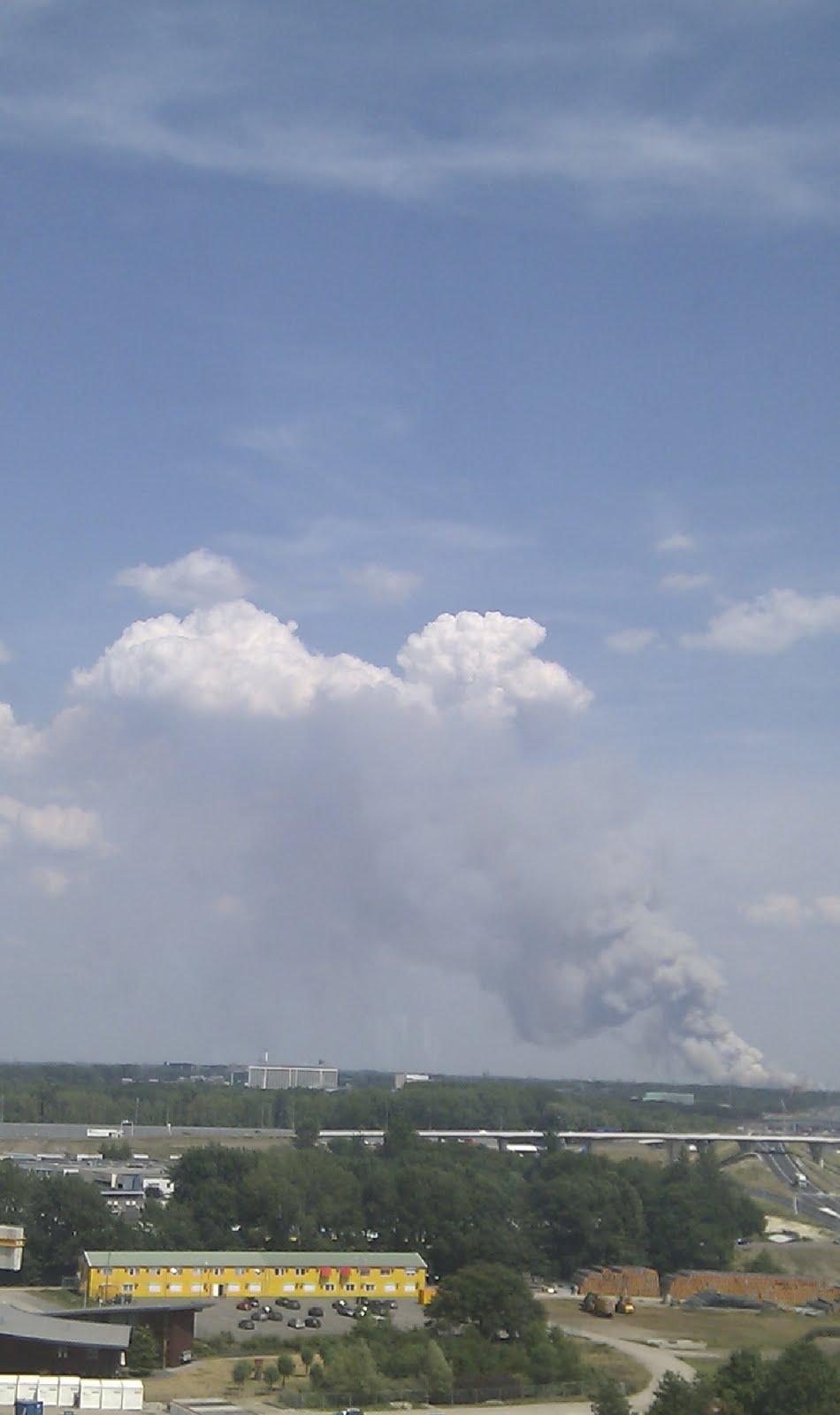 Grote brand op de Strabrechtse Heide