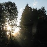 Po bouřce se ale vyčasilo a ještě svítilo slunce