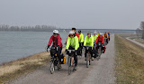 Riding along the Rhein on the Alsace Easter tour
