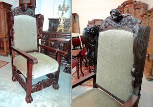 Старое кресло ок.1800 г. 2000 евро.