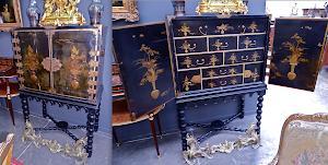 Китайский кабинет 18-й век. Дерево, кожа, тесьнение, позолота, ковка. 92/51/144 см. 6000 евро.