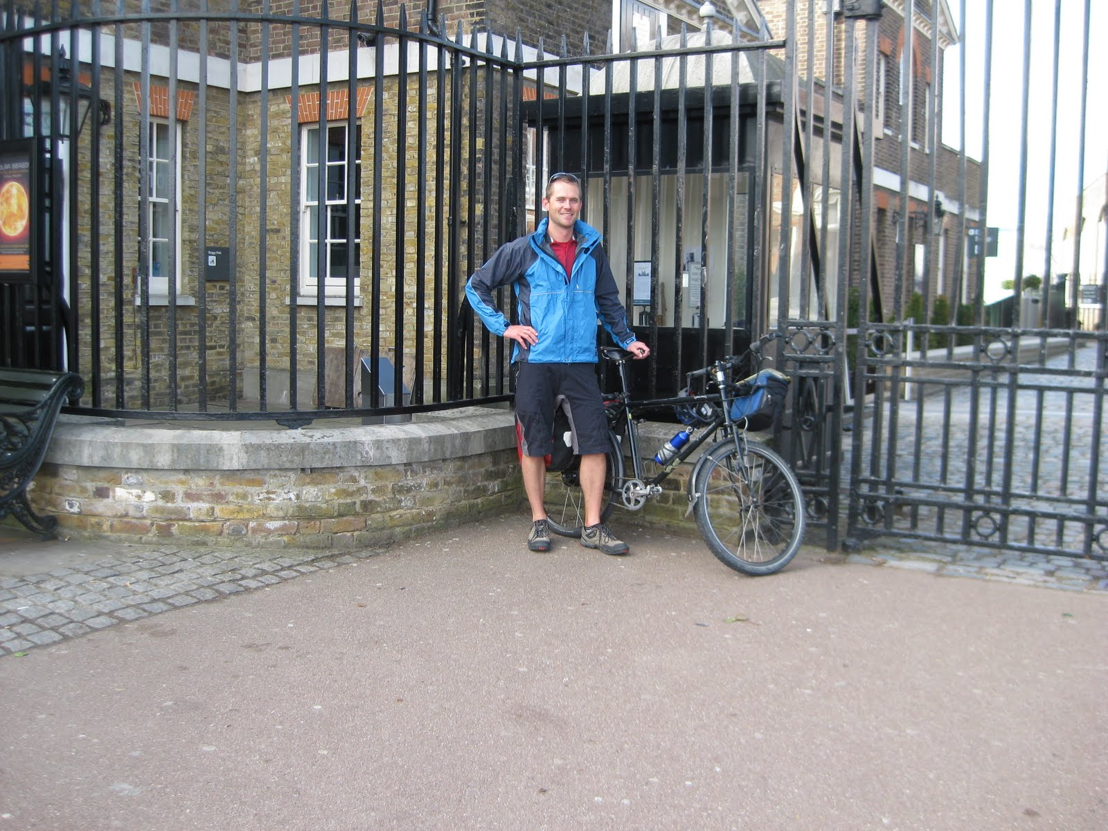 Just outside the Royal Observatory, having completed the first lap