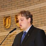 Konkoly Attila, a HÖK elnöke olvasta fel a gólyák esküjének szövegét